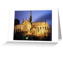 Notre Dame Cathredral, Paris at Sunset Greeting Card