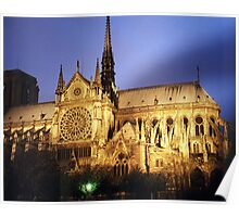 Notre Dame Cathredral, Paris at Sunset Poster
