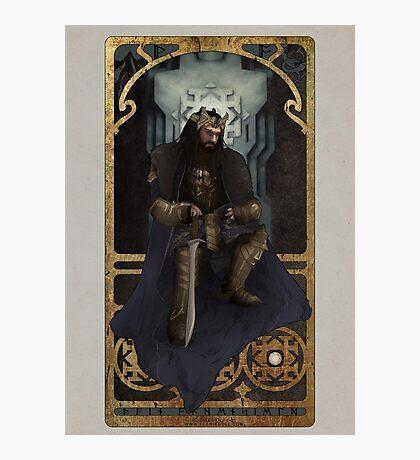 Art Nouveau Thorin Oakenshield Photographic Print