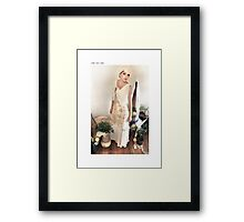 1930s bias gown Framed Print