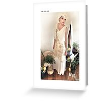 1930s bias gown Greeting Card