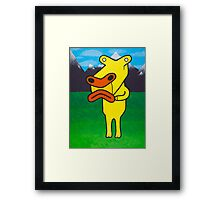 Moog and The Mountains Framed Print