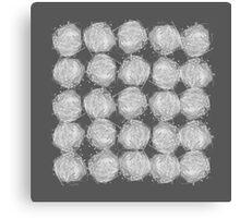 nesting | white on grey Canvas Print