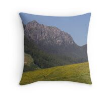 photoj Tas Mt Roland, In a field of Yellow wild flowers Throw Pillow