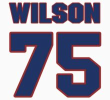 National football player Mike Wilson jersey 75 by imsport
