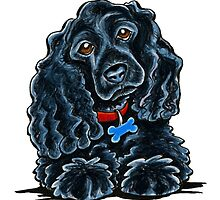 Cocker Spaniel Fitz by offleashart