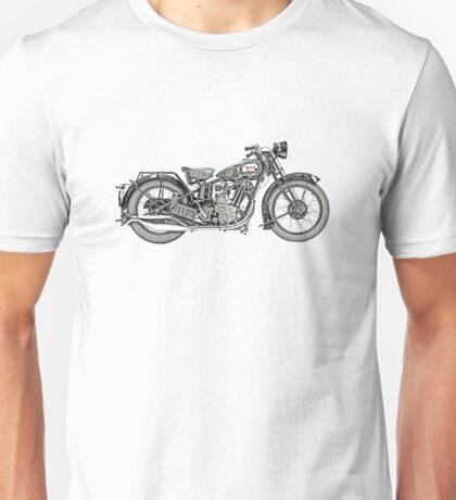 1929 BSA Sloper Motorcycle Unisex T-Shirt