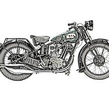 1929 BSA Sloper Motorcycle by surgedesigns