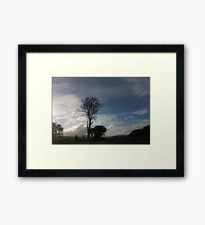 Windswept Australian Cloud Framed Print