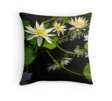Searching For Monet's Water Lilies Throw Pillow