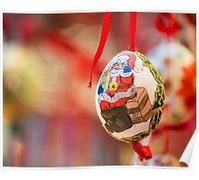 Christmas handmade egg Poster