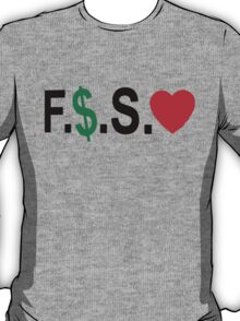 Fuck Money Spread Love [Black] T-Shirt