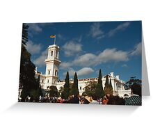 Parliament House and the gardens Greeting Card