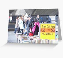 Book Market 2 Greeting Card