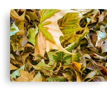 Autumn Detritus - Faux Oil Painting Canvas Print
