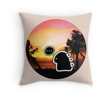 Emo monster's sunset Throw Pillow