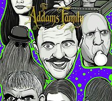 addams family portrait by gjnilespop