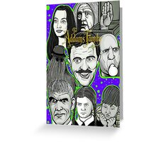 addams family portrait Greeting Card