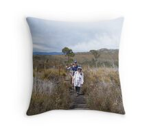 on top of Mt Roland, near Sheffield, Tasmania Throw Pillow