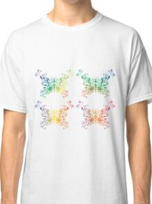 Abstract multicolored butterflies Classic T-Shirt