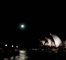Moon over Opera by Rosina  Lamberti