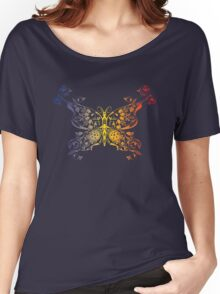 Abstract multicolored butterfly 2 Women's Relaxed Fit T-Shirt