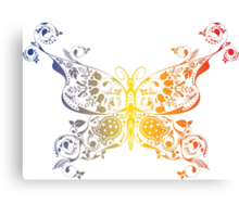 Abstract multicolored butterfly 2 Canvas Print