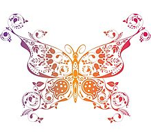 Abstract multicolored butterfly 3 Photographic Print