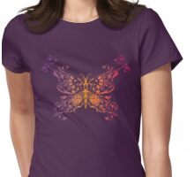 Abstract multicolored butterfly 3 Womens Fitted T-Shirt