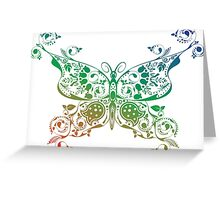 Abstract multicolored butterfly 4 Greeting Card