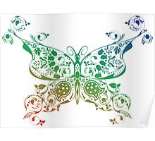 Abstract multicolored butterfly 4 Poster