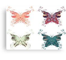 Colored butterflies 2 Canvas Print