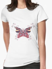 Colorful Butterfly 7 Womens Fitted T-Shirt