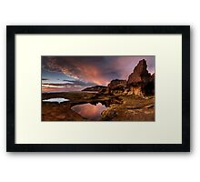 Rock Arch in Pink Framed Print