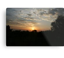 Uganda Sunset Metal Print