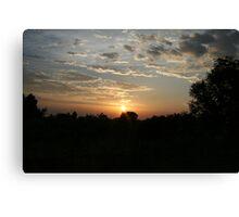 Uganda Sunset Canvas Print
