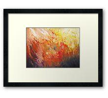 Flame Turbulence Framed Print