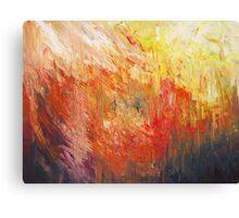 Flame Turbulence Canvas Print