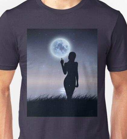 Girl touch the moon Unisex T-Shirt