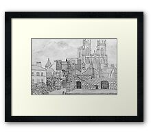 My Pencil Drawing of Bootham Gate and York Minster - all products bar duvet Framed Print