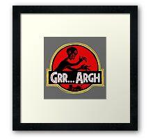 Grrassic Pargh Framed Print