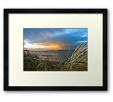 out from the sand dunes of Beal Framed Print
