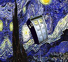 Starry Night Tardis by SecondArt