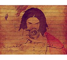 Girl photographer grunge background Photographic Print