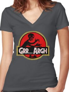 Grrassic Pargh Women's Fitted V-Neck T-Shirt