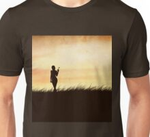 Girl with a butterfly Unisex T-Shirt