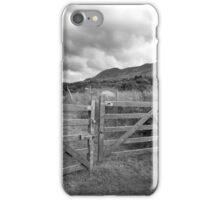 padlocked gate to mountains iPhone Case/Skin