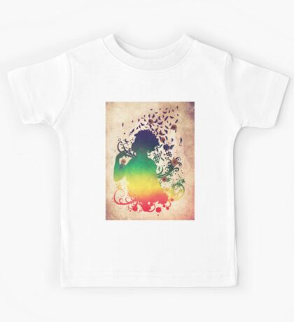 Girl with butterflies 2 Kids Tee
