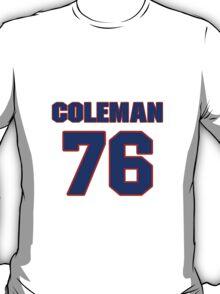 National football player Steve Coleman jersey 76 T-Shirt