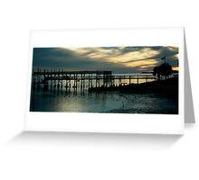 Double Decker Dock Greeting Card